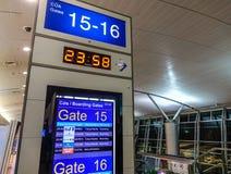 Доска отклонения аэропорта Nhat сына Tan стоковое изображение rf