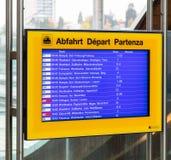 Доска отклонения на вокзале Bern Стоковое Изображение RF