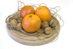 доска прерывая nuts померанцы Стоковое Изображение RF