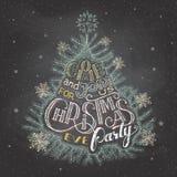 Доска приглашения партии Рожденственской ночи Стоковые Фото