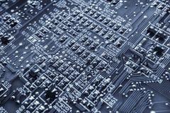 Доска процессора Фото макроса Тонизированная синь Стоковые Изображения
