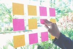 Доска план-графика напоминания бумаги примечания Стоковое Изображение RF