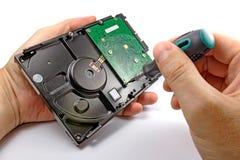 Доска регулятора удаления дисковода жесткого диска на белой предпосылке Стоковое Фото
