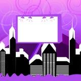 Доска рекламы простого города коммерчески Стоковые Фотографии RF