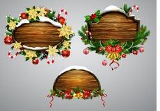 Доска рождества вектора деревянная иллюстрация вектора