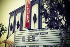 Доска театра Fox на бульваре Голливуда Стоковое Изображение RF