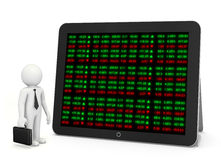 Доска тиккера фондовой биржи стоковое фото