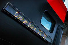 Доска цифровым данным по пассажирского парома Стоковое фото RF