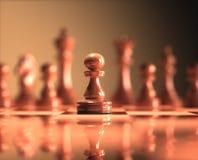 Доска шахматов пешки Стоковое Фото