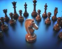 Доска шахматов рыцаря Стоковые Изображения