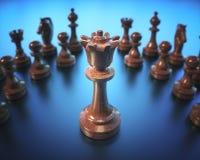 Доска шахматов ферзя Стоковое Изображение