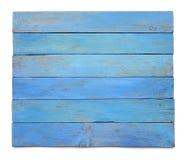 Доска Grunge голубая деревянная изолированная на белой предпосылке Стоковые Фото