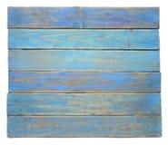 Доска Grunge голубая деревянная изолированная на белой предпосылке Стоковое Изображение