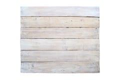 Доска Grunge деревянная изолированная на белой предпосылке Стоковое Изображение