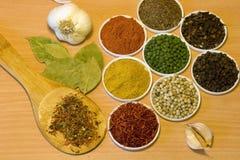 доска spices деревянное Стоковое Изображение RF