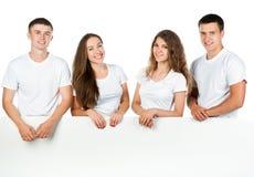 доски детеныши людей вне белые Стоковые Изображения RF