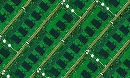 Доски компьютерной памяти. Справочная информация стоковые изображения