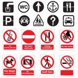 Доски объявлений знаков общественного места иллюстрация штока