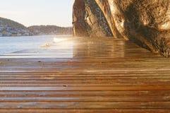 Доски палубы в свете солнца Стоковые Изображения