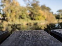 доски стенда озером стоковое изображение