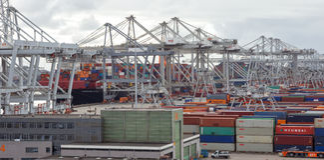 Доставка порта Rottterdam стоковое изображение rf