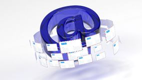 Почта Электронные почты Обеспечьте взаимодействие всемирно Доставка почты 45 иллюстрация вектора