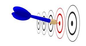 Достигаемость цели цели стрелки дротика Стоковая Фотография RF