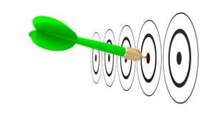 Достигаемость цели цели стрелки дротика Стоковые Изображения RF