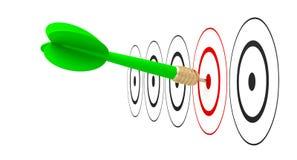 Достигаемость цели цели стрелки дротика Стоковые Изображения