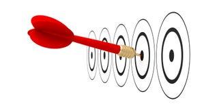 Достигаемость цели цели стрелки дротика Стоковые Фото