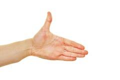 Достигните вне с рукой для гостеприимсва Стоковая Фотография RF