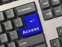 достигните голубой ключевой клавиатуры стоковое фото
