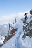 достигните backcountry тропки катания на лыжах Стоковые Фото