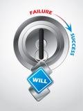 Доступ к успеху… ключ будет Стоковое Изображение RF