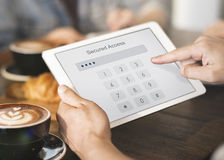 Доступ обеспеченный именем пользователя проверяет концепцию пароля идентичности Стоковые Фотографии RF