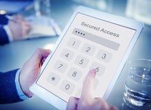 Доступ обеспеченный именем пользователя проверяет концепцию пароля идентичности Стоковое Фото