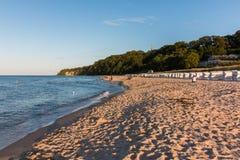 Доступ пляжа gen Ostseebad Göhren Nordstrand ¼ Rà стоковые фотографии rf
