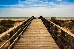 Доступ пляжа стоковая фотография rf