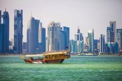 Доха, западный залив Стоковые Изображения