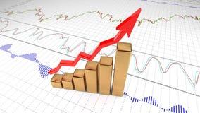 Доход роста диаграммы Успех, обмен, валюта 7 иллюстрация вектора