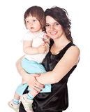 дочь вручает держит мать стоковое фото