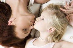 дочь ее мать стоковые изображения rf