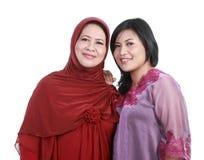 дочь ее мусульманская женщина стоковые изображения rf