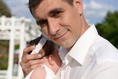 Дочь отца и младенца стоковые изображения