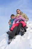 дочь пар их детеныши Стоковое фото RF