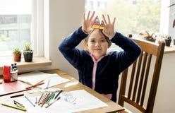 Дочь тратит учить праздника счастья времени Стоковая Фотография