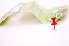 Долларовая банкнота 20 канадцев Стоковое фото RF