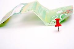Долларовая банкнота 20 канадцев Стоковое Фото