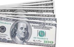 Долларовая банкнота на белой предпосылке Стоковые Изображения RF