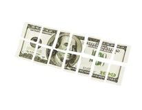 Долларовая банкнота отрезка 100 Стоковое Изображение RF